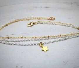 Silver Gold Anklet