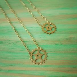Gold Sprocket Necklace