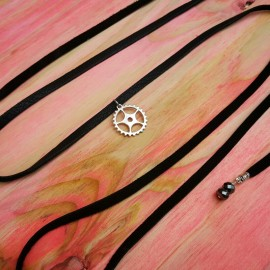 Leather Sprocket Choker