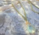 Yellow Rainbow Quartz Necklace